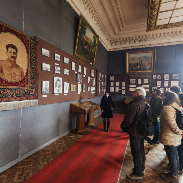 """Eurasia, Caucasus region, Georgia, Shida Kartli, Gori, Museum of Joseph..."" stock image"