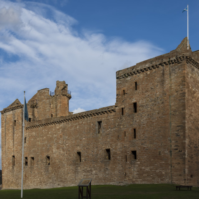 """Linlithgow Palace, built in the 15th century, birthplace of Mary Queen of..."" stock image"