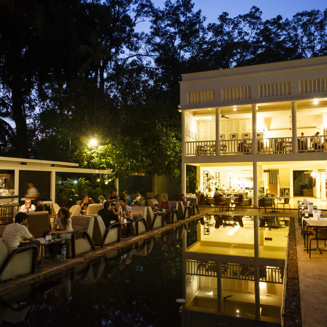 """The FCC Angkor, Foreign Correspondents Club, hotel and restaurant, Siem Reap,..."" stock image"