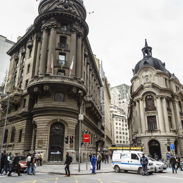 """""""The Stock Exchange building, Santiago, Chile, South America"""" stock image"""