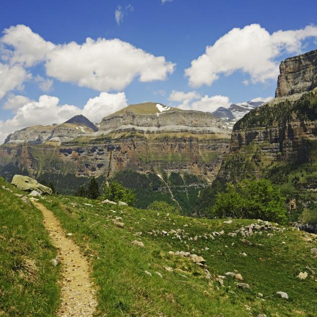 """""""Valle de Ordesa, Parque Nacional de Ordesa, Central Pyrenees, Aragon, Spain,..."""" stock image"""