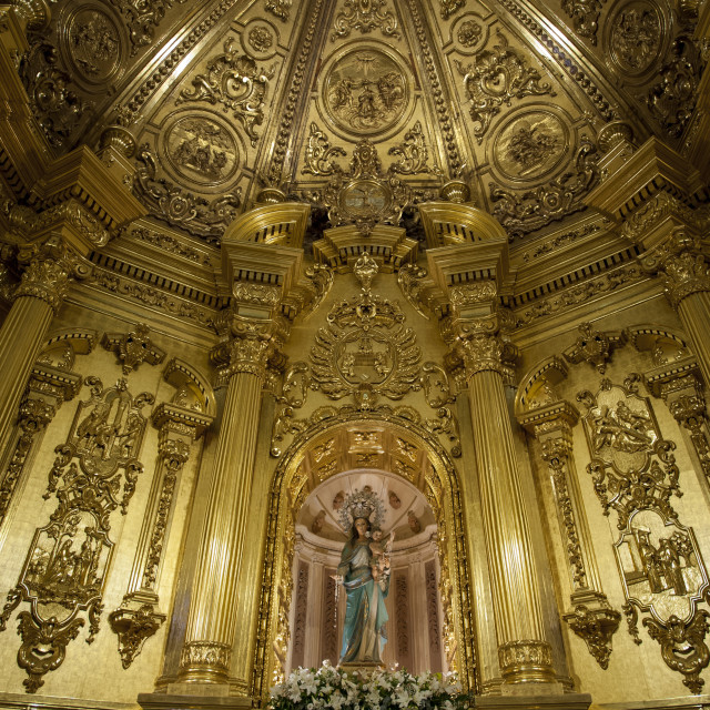 """Chapel of the Rosary, Lorca, Region of Murcia, Spain, Europe"" stock image"