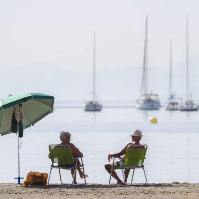 """Mar Menor, Region of Murcia, Spain, Europe"" stock image"