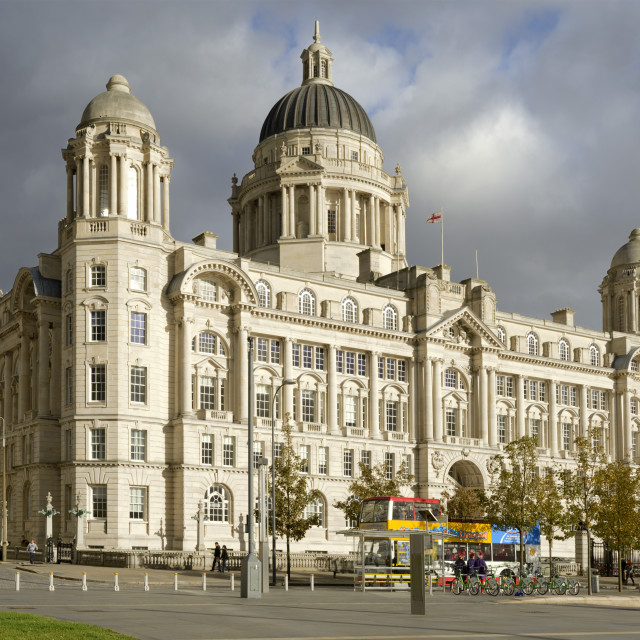 """Port of Liverpool Building, Pier Head, UNESCO World Heritage Site,..."" stock image"