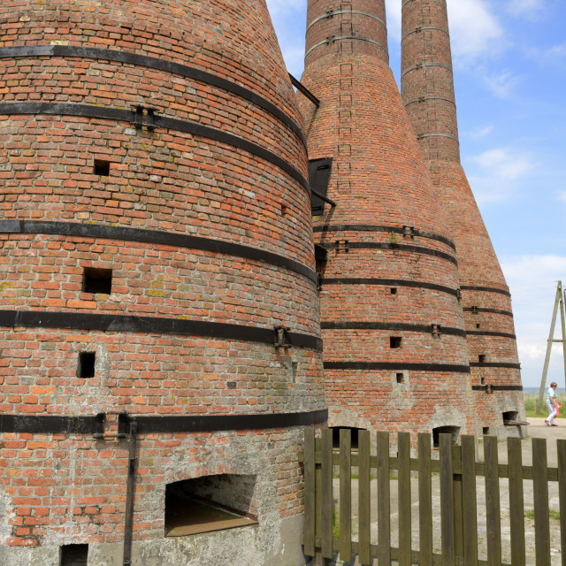 """""""Lime kilns, Zuiderzee open air museum, Lake Ijssel, Enkhuizen, North Holland,..."""" stock image"""