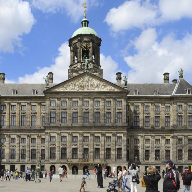 """Royal Palace, Dam Square, Amsterdam, North Holland, Netherlands, Europe"" stock image"