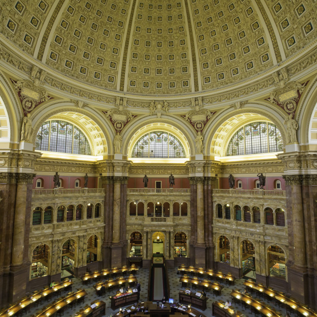 """The Great Hall in the Thomas Jefferson Building, Library of Congress,..."" stock image"