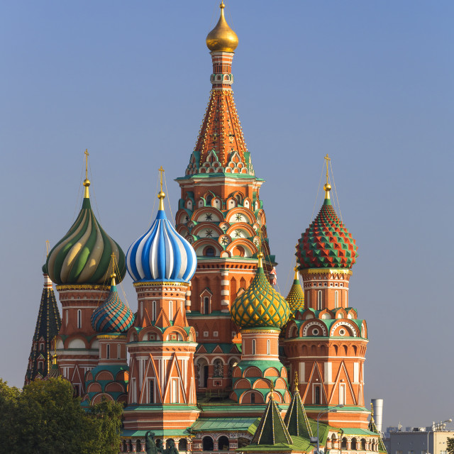 """St. Basils Cathedral in Red Square, UNESCO World Heritage Site, Moscow,..."" stock image"