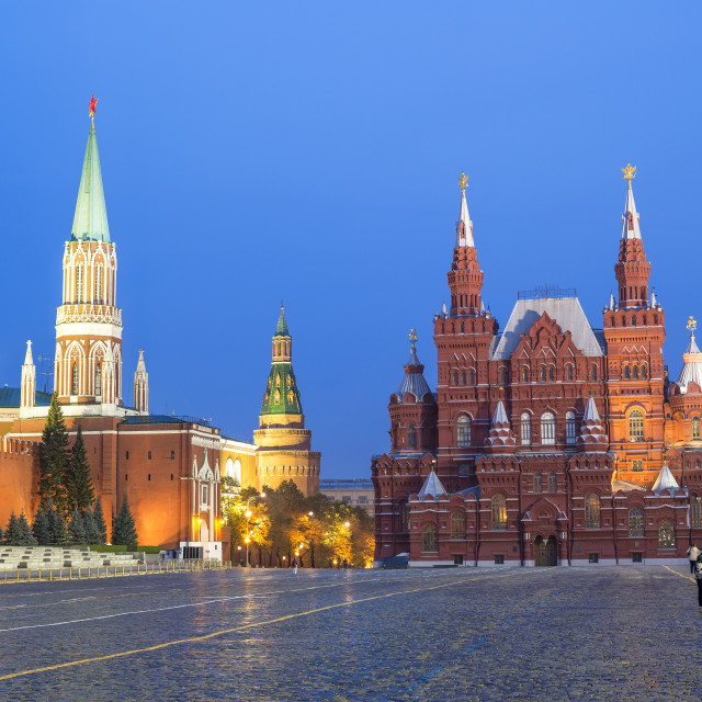 """""""Red Square and the State History Museum, UNESCO World Heritage Site, Moscow,..."""" stock image"""