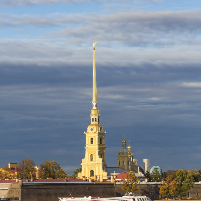 """""""Peter and Paul Fortress on Neva riverside, UNESCO World Heritage Site, St...."""" stock image"""
