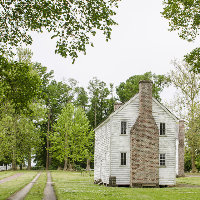 """""""Slave cabin at Somerset Place State Historic Plantation Site, Creswell, North..."""" stock image"""