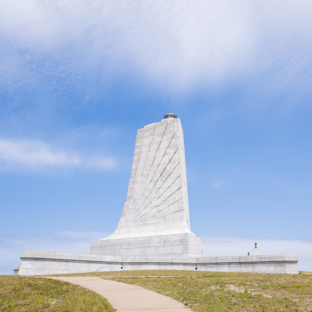 """""""Wright Brothers National Memorial, Kill Devil Hills, Kitty Hawk, Outer Banks,..."""" stock image"""