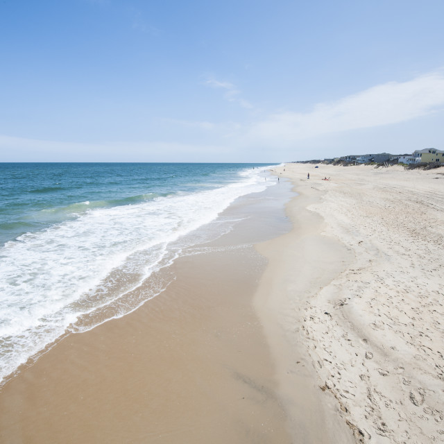 """Beach at Nags Head, Outer Banks, North Carolina, United States of America,..."" stock image"