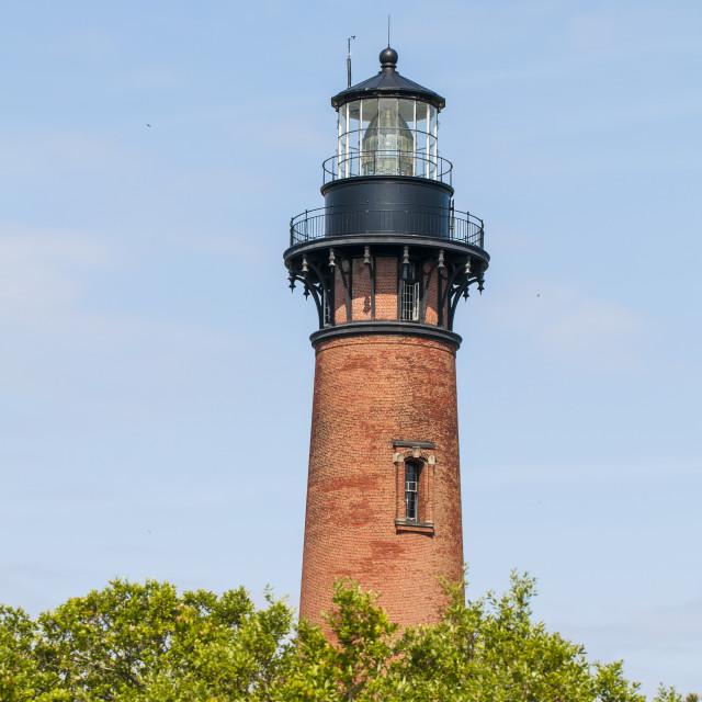"""Currituck Beach Lighthouse, Corolla, Outer Banks, North Carolina, United..."" stock image"