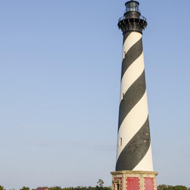 """Cape Hatteras Light Station, Hatteras Island, Outer Banks, North Carolina,..."" stock image"