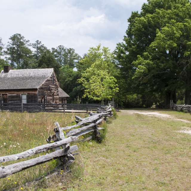 """""""The Civil War site where the South surrendered to the North, Bennett Place..."""" stock image"""