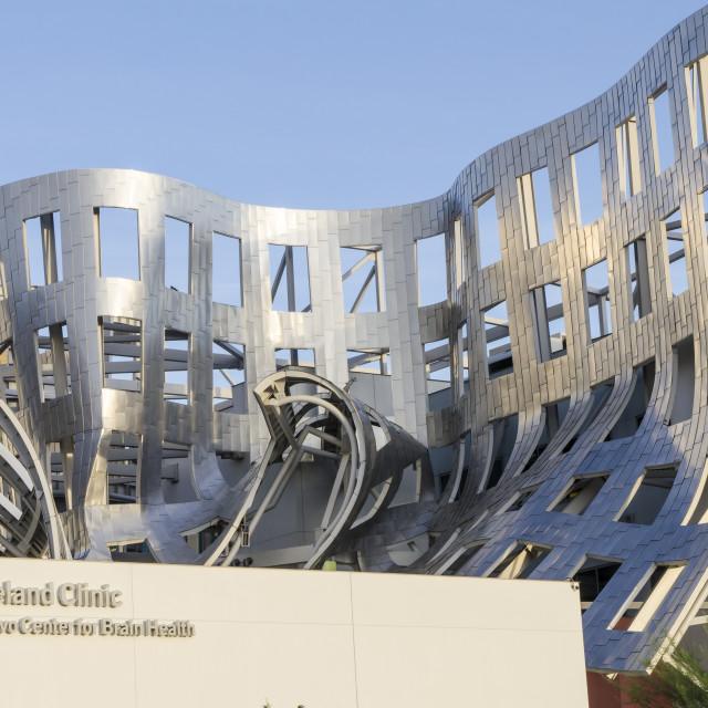 """Cleveland Clinic Lou Ruvo Center for Brain Health building designed by Frank..."" stock image"