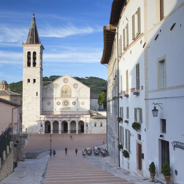 """Duomo (Cathedral) in Piazza del Duomo, Spoleto, Umbria, Italy, Europe"" stock image"