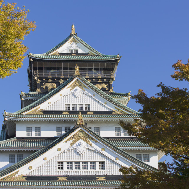 """Osaka Castle, Osaka, Kansai, Japan, Asia"" stock image"