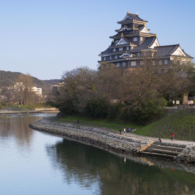 """""""Okayama Castle, Okayama, Okayama Prefecture, Japan, Asia"""" stock image"""