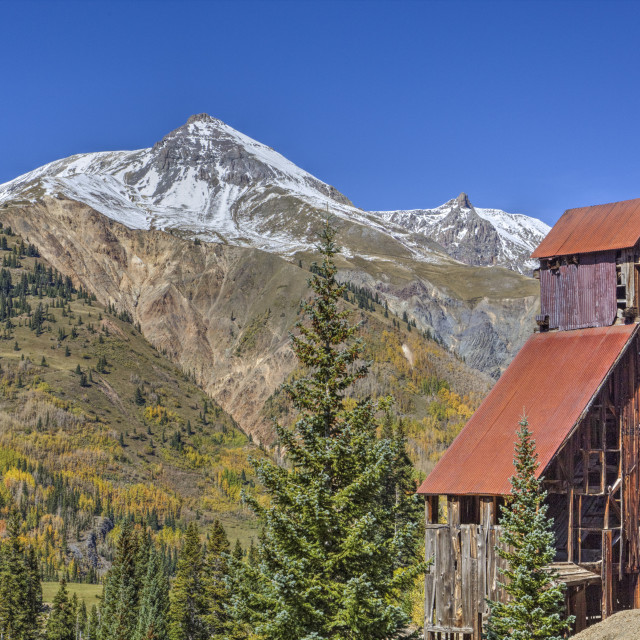 """Yankee Girl Silver and Gold Mine, Ouray, Colorado, United States of America,..."" stock image"