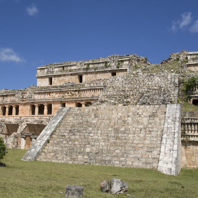 """""""The Palace, Sayil, Mayan Ruins, Yucatan, Mexico, North America"""" stock image"""
