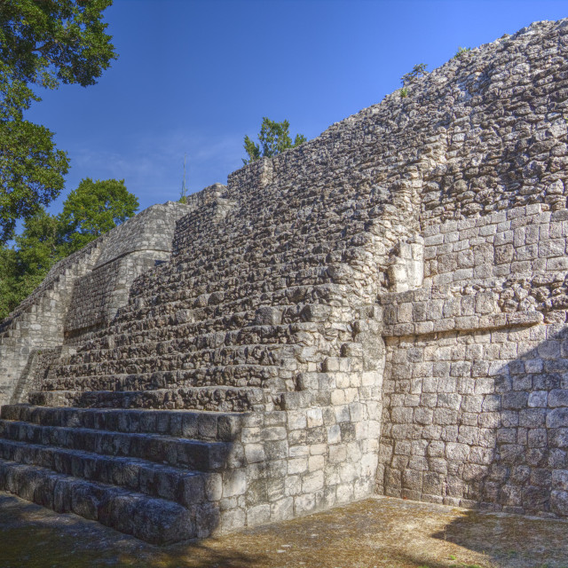 """Structure I, Balamku, Mayan archaeological site, Peten Basin, Campeche,..."" stock image"