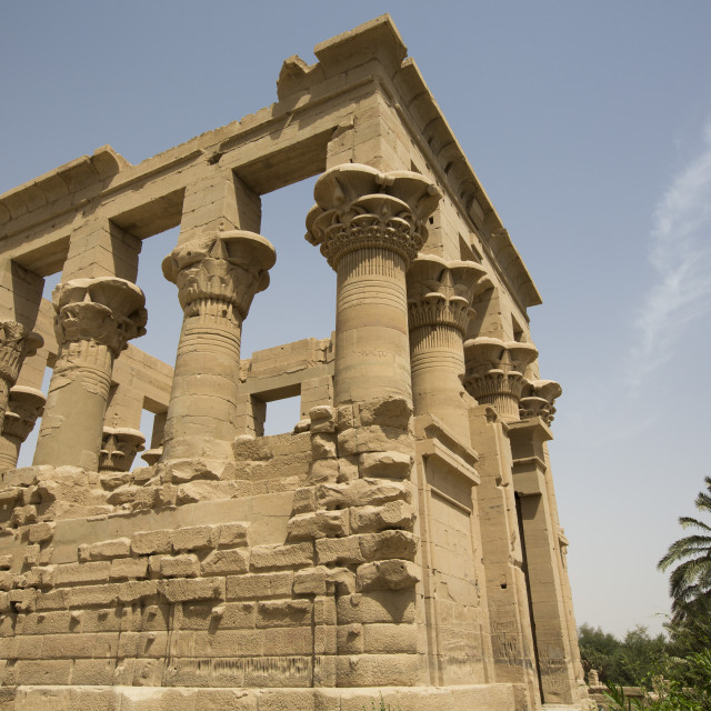 """Kiosk of Trajan, Temple of Isis, Island of Philae, Aswan, Egypt"" stock image"