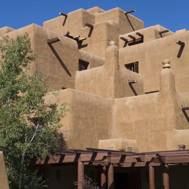 """""""Loretto Hotel, Loretto, Santa Fe, New Mexico, United States of America, North..."""" stock image"""