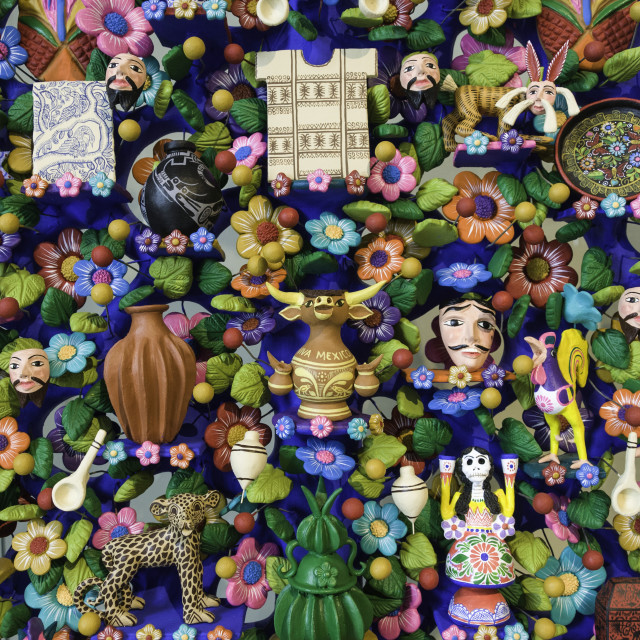 """""""Close up of a traditional 'Tree of Life' a themed clay sculpture typical to..."""" stock image"""