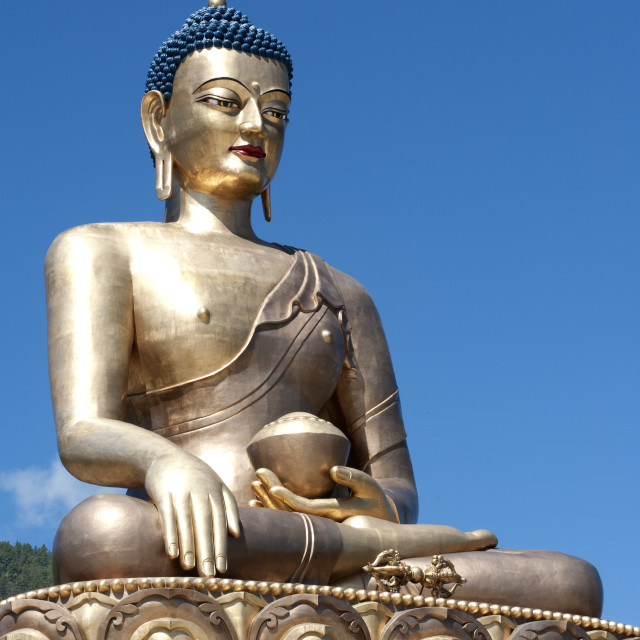 """""""Buddha Dordenma statue, bronze, gilded in gold, 51.5 metres high, a..."""" stock image"""