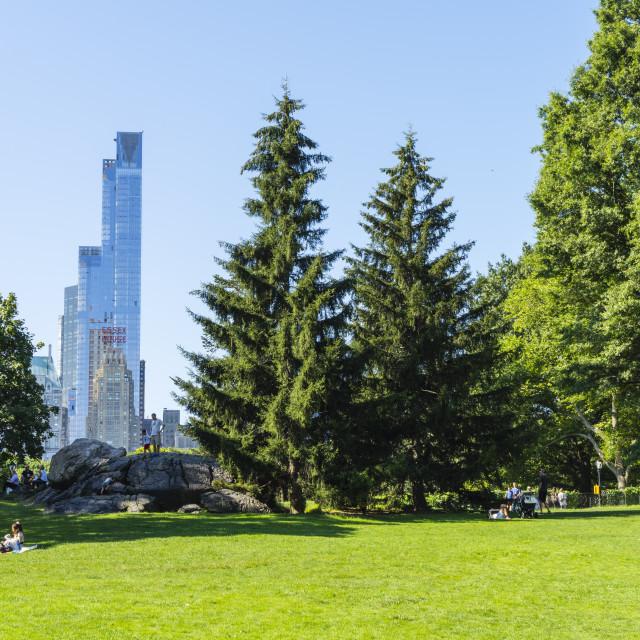 """Skyscrapers bordering Central Park, Manhattan, New York City, New York,..."" stock image"