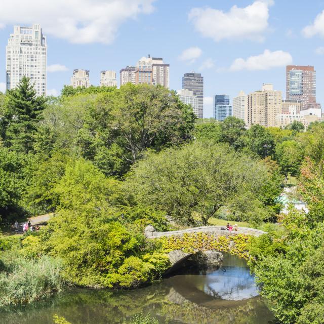 """The Pond, Central Park, Manhattan, New York City, New York, United States of..."" stock image"