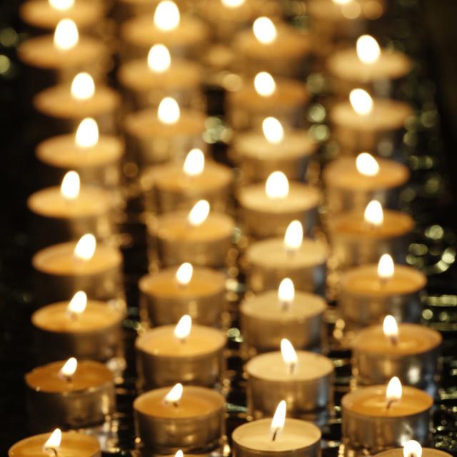 """""""Candles, Wesak (Buddha's birthday, awakening and nirvana) celebration at the..."""" stock image"""