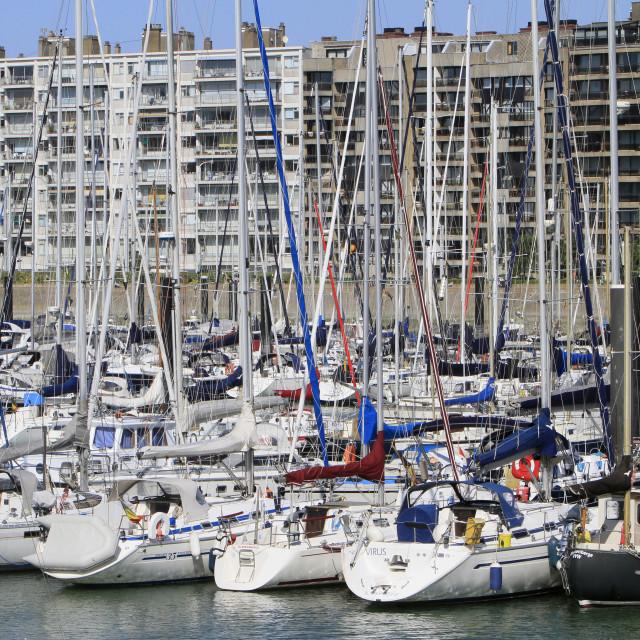 """Blankenberge Marina, Blankenberge, Belgium, Europe"" stock image"