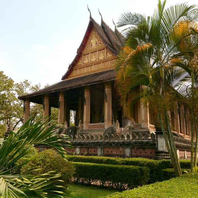 """Vat Haw Pha Kaeo, Vientiane, Laos, Indochina, Southeast Asia, Asia"" stock image"