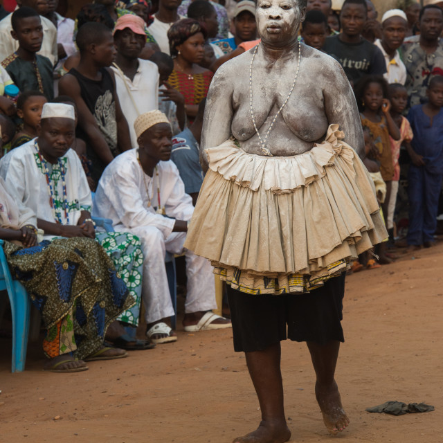 """""""Voodoo festival in the streets of Ouidah."""" stock image"""