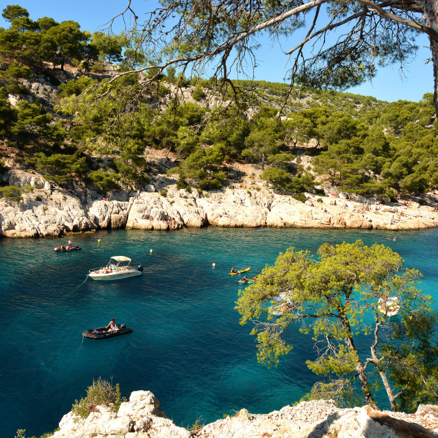 """Port-Pin creek near Cassis."" stock image"