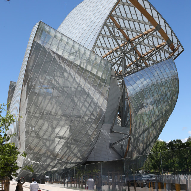 """Louis Vuitton Foundation (Fondation Louis-Vuitton). Art Museum. Architect :..."" stock image"