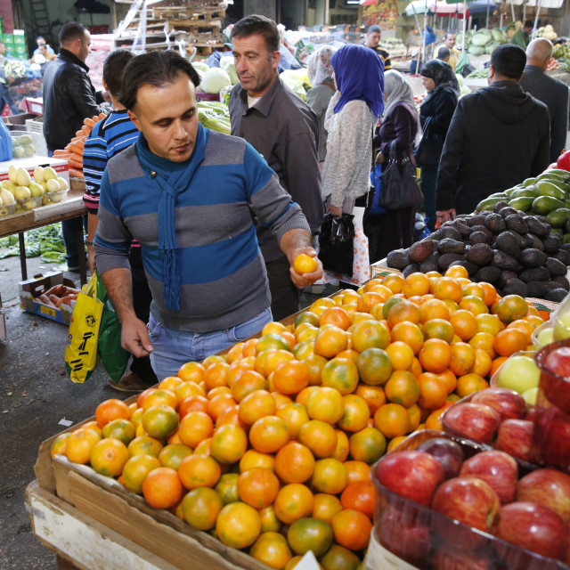 """Ramallah central market."" stock image"