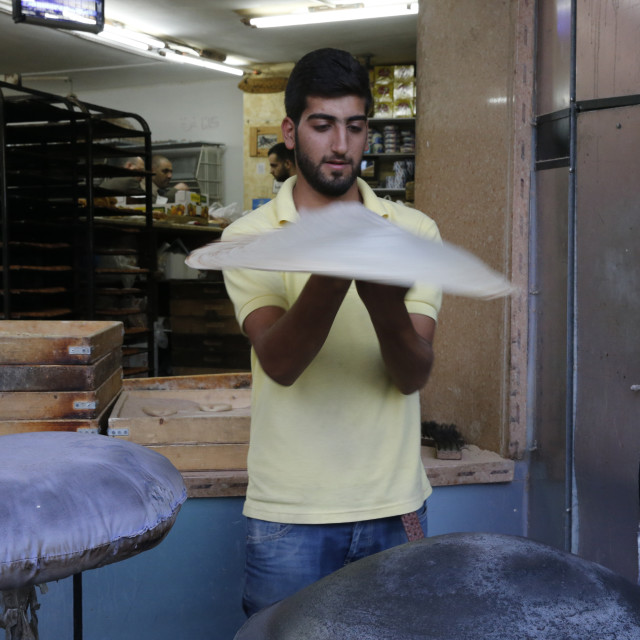 """Bakery in Ramallah, West Bank."" stock image"