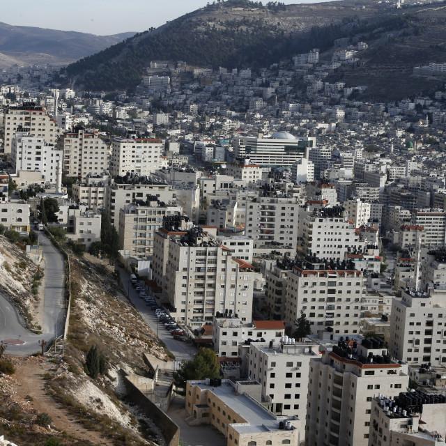 """""""Nablus city, West Bank."""" stock image"""