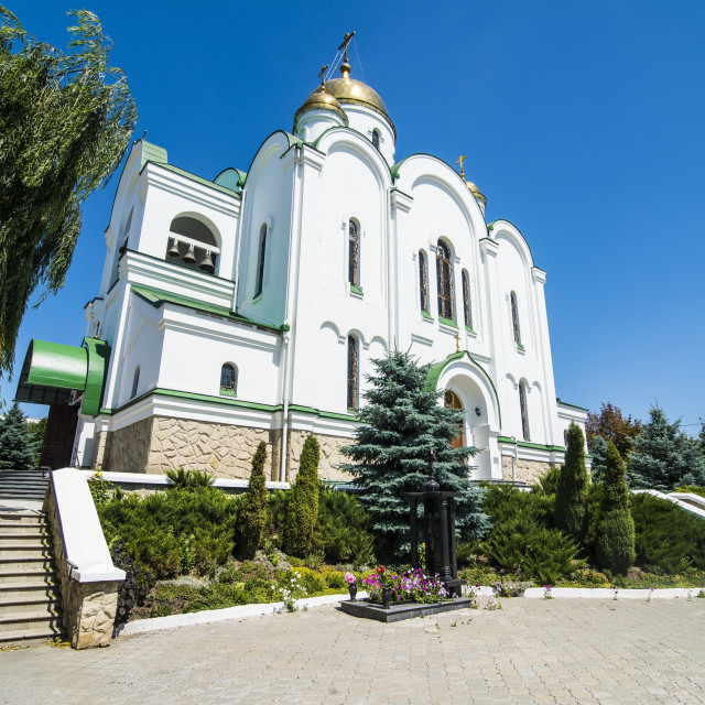 """Church of the Nativity, Tiraspol, capital of the Republic of Transnistria,..."" stock image"