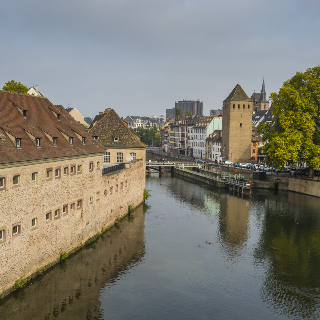 """""""Barrage Vauban, former city fortifications on the Ill River, barrage,..."""" stock image"""