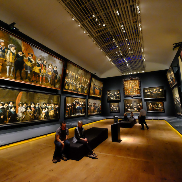 """Hermitage Amsterdam, the Portrait Gallery of the Golden Age, Amsterdam, The..."" stock image"