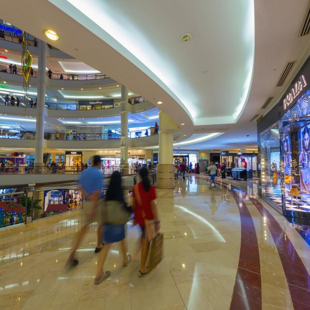 """Suria KLCC Shopping Mall, Petronas Towers, Kuala Lumpur, Malaysia, Southeast..."" stock image"