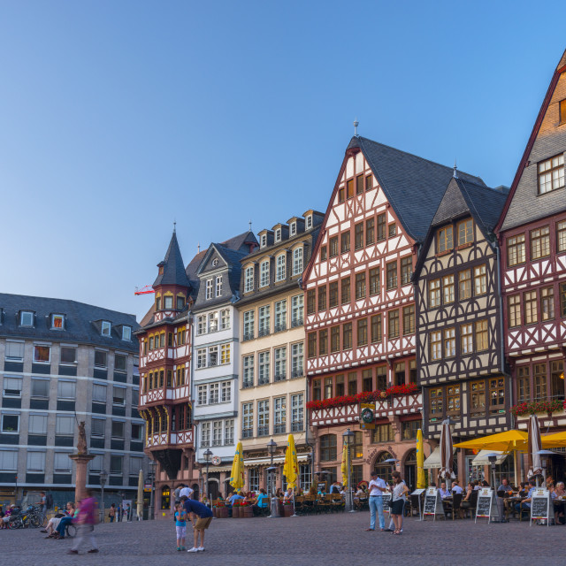 """Germany, Hessen, Frankfurt Am Main, Altstadt (Old Town), Romerberg"" stock image"