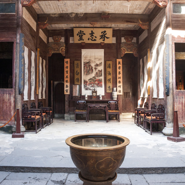 """Historic home from Ming dynasty, Hongcun village, Anhui province, China, Asia"" stock image"