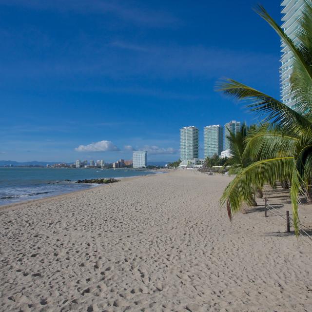 """Beach scene, Puerto Vallarta, Jalisco, Mexico, North America"" stock image"