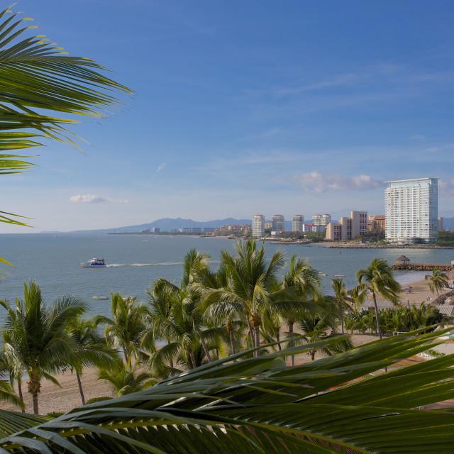 """Hotel scene, Puerto Vallarta, Jalisco, Mexico, North America"" stock image"